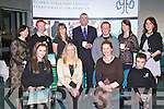 KES: The students of Killarney Community College at the Kerry Education Student Awards at IT Tralee on Friday seated l-r: Emer Buckley, Stella Loughnane (vice principal), Fiona O'Brien (principal) and Finnbar Corkery. Back l-r: Ann O'Dwyer (acting CEO KES), Michael MacSweeny, Michelle O'Sullivan (guest speaker), Ray O'Sullivan, John Doona, Michelle O'Connor and Santa Maria Curikova..