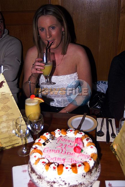 Caroline O'Brien Celabrating Her 21st Birthday in Lucky Ned Peppers...Pic Newsfile