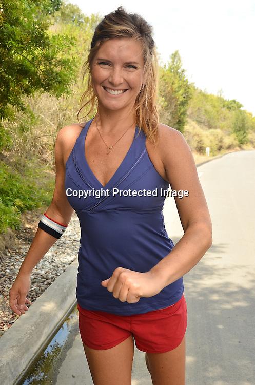 Woman preparing to jog