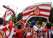 June 4th 2017, Estadi Montilivi,  Girona, Catalonia, Spain; Spanish Segunda División Football, Girona versus Zaragoza; Girona supporters before the match, waiting for the team bus to arrive