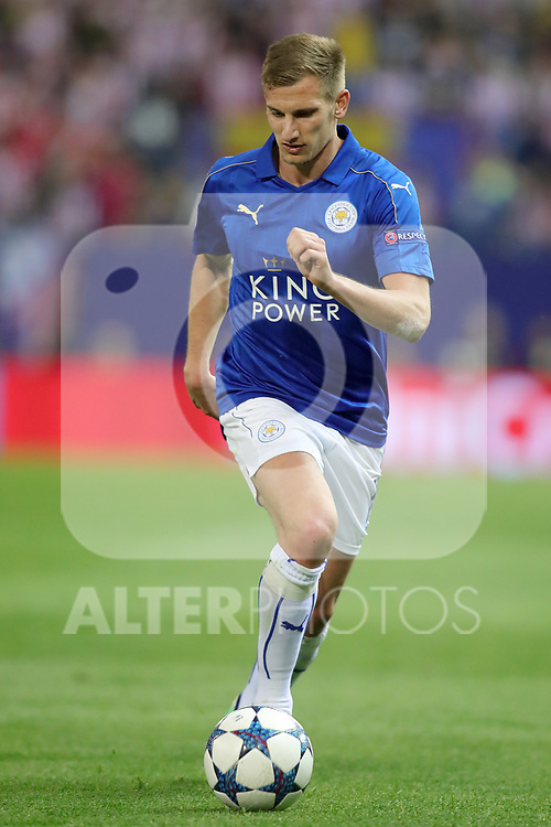 Leicester City FC's Marc Albrighton during Champions League 2016/2017 Quarter-finals 1st leg match. April 12,2017. (ALTERPHOTOS/Acero)