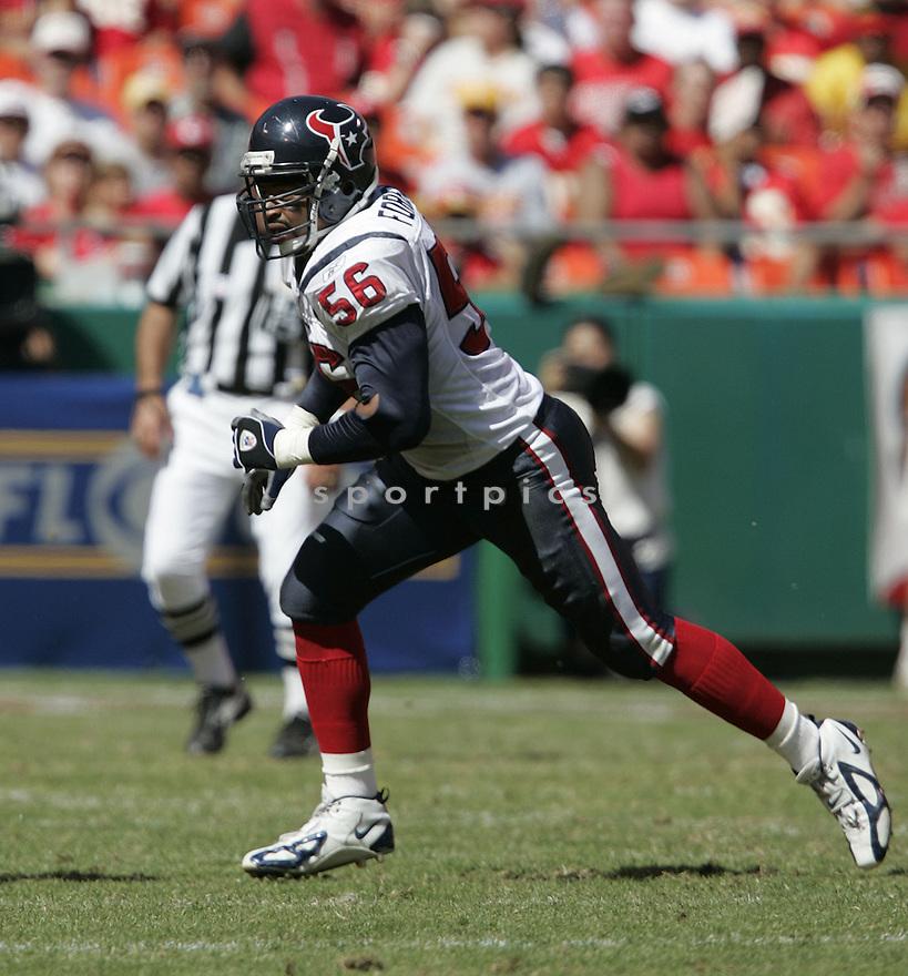 Jay Foreman during the Houston Texans. v. Kansas City Chiefs game September 26, 2004...Dilip Vishwanat / SportPics