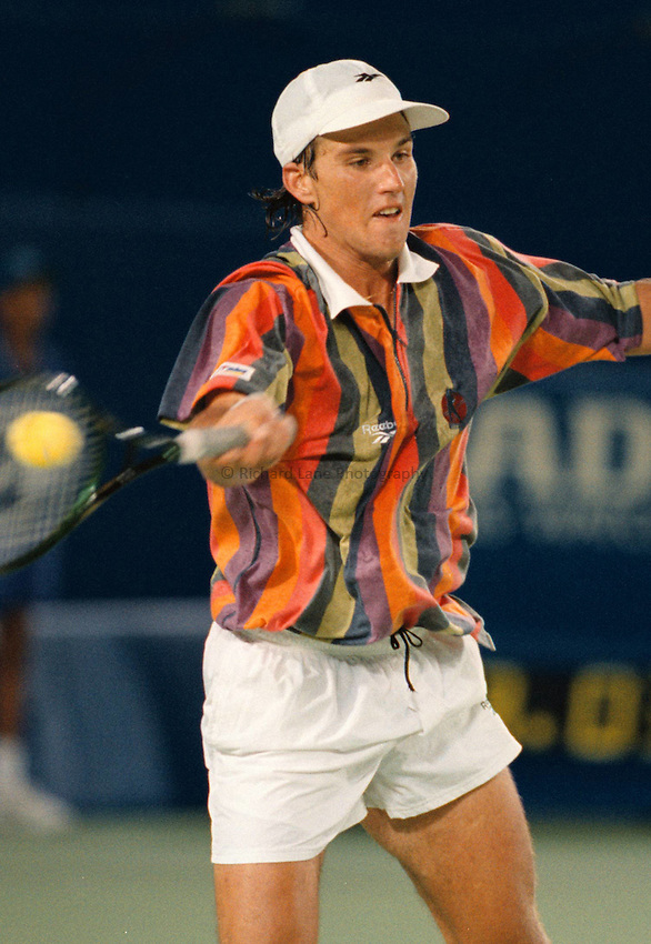 Photo. Steve Holland.Australian Open at Melbourne. 1995..Pat Rafter