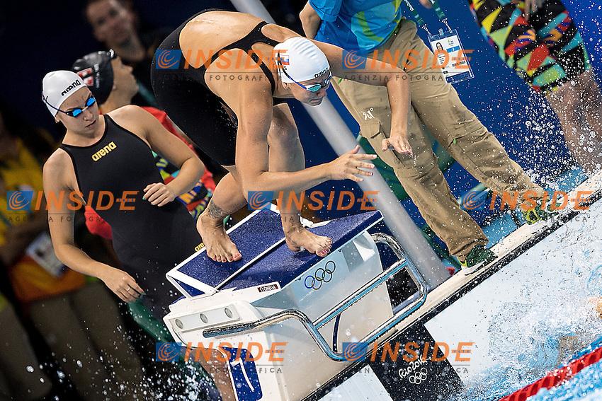 Team Russia <br /> 4x100 freestyle women relay<br /> Rio de Janeiro 06-08-2016 XXXI Olympic Games <br /> Olympic Aquatics Stadium <br /> Swimming heats 06/08/2016<br /> Photo Giorgio Scala/Deepbluemedia/Insidefoto