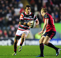 Peter Betham of Leicester Tigers in possession. European Rugby Champions Cup match, between Leicester Tigers and Munster Rugby on December 17, 2016 at Welford Road in Leicester, England. Photo by: Patrick Khachfe / JMP