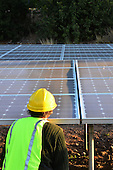 Stock photo of solar panel engineer