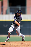 Colorado Rockies Sam Hilliard (45) during an Instructional League game against the Los Angeles Angels of Anaheim on October 6, 2016 at the Tempe Diablo Stadium Complex in Tempe, Arizona.  (Mike Janes/Four Seam Images)