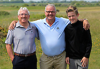 Noel Kelly and friends on the 2nd during Round 4 of the East of Ireland Amateur Open Championship sponsored by City North Hotel at Co. Louth Golf club in Baltray on Monday 6th June 2016.<br /> Photo by: Golffile   Thos Caffrey