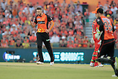 8th January 2018, The WACA, Perth, Australia; Australian Big Bash Cricket, Perth Scorchers versus Melbourne Renegades; Andrew Tye of the Perth Scorchers celebrates Marcus Harris of the Melbourne Renegades wicket
