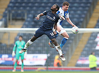 Blackburn Rovers' Corry Evans and Southend United's Dru Yearwood<br /> <br /> Photographer Rachel Holborn/CameraSport<br /> <br /> The EFL Sky Bet League One - Blackburn Rovers v Southend United - Saturday 7th April 2018 - Ewood Park - Blackburn<br /> <br /> World Copyright &copy; 2018 CameraSport. All rights reserved. 43 Linden Ave. Countesthorpe. Leicester. England. LE8 5PG - Tel: +44 (0) 116 277 4147 - admin@camerasport.com - www.camerasport.com