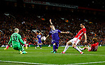 Zlatan Ibrahimovic of Manchester United fires a shot at goal  during the UEFA Europa League Quarter Final 2nd Leg match at Old Trafford, Manchester. Picture date: April 20th, 2017. Pic credit should read: Matt McNulty/Sportimage
