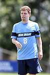 28 August 2016: San Diego's Merlin Baus (GER). The Elon University Phoenix played the University of San Diego Toreros at Koskinen Stadium in Durham, North Carolina in a 2016 NCAA Division I Men's Soccer match. USD won the game 2-1.