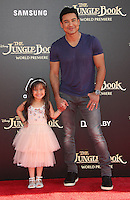 "04 April 2016 - Hollywood, California - Mario Lopez, Gia Francesca Lopez. ""The Jungle Book"" Los Angeles Premiere held at the El Capitan Theatre. Photo Credit: Sammi/AdMedia"
