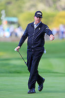 Phil Mickelson (USA) on the 5th green at Pebble Beach Golf Links during Saturday's Round 3 of the 2017 AT&amp;T Pebble Beach Pro-Am held over 3 courses, Pebble Beach, Spyglass Hill and Monterey Penninsula Country Club, Monterey, California, USA. 11th February 2017.<br /> Picture: Eoin Clarke | Golffile<br /> <br /> <br /> All photos usage must carry mandatory copyright credit (&copy; Golffile | Eoin Clarke)
