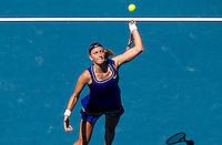 PETRA KVITOVA (CZE) against ANA IVANOVIC (SRB) in the fourth round of the Women's Singles. Petra Kvitova beat Ana Ivanovic  6-2 7-6..23/01/2012, 23rd January 2012, 23.01.2012 - Day 8..The Australian Open, Melbourne Park, Melbourne,Victoria, Australia.@AMN IMAGES, Frey, Advantage Media Network, 30, Cleveland Street, London, W1T 4JD .Tel - +44 208 947 0100..email - mfrey@advantagemedianet.com..www.amnimages.photoshelter.com.