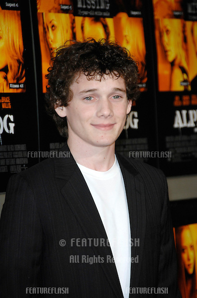 "ANTON YELCHIN at the world premiere of his new movie ""Alpha Dog"" at the Arclight Theatre, Hollywood..January 3, 2007  Los Angeles, CA.Picture: Paul Smith / Featureflash"