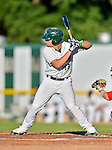 18 August 2012: Vermont Lake Monsters catcher Bruce Maxwell at bat during a game against the Brooklyn Cyclones at Centennial Field in Burlington, Vermont. The Lake Monsters defeated the Cyclones 4-1 in NY Penn League action. Mandatory Credit: Ed Wolfstein Photo