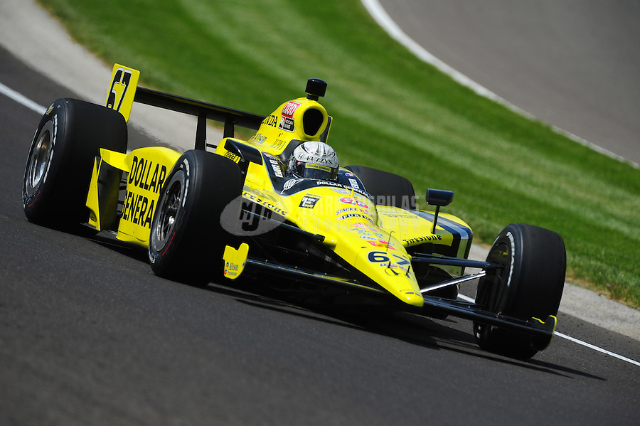 May 19, 2011; Indianapolis, IN, USA; Indy Car Series driver Ed Carpenter during practice for the Indianapolis 500 at the Indianapolis Motor Speedway. Mandatory Credit: Mark J. Rebilas-