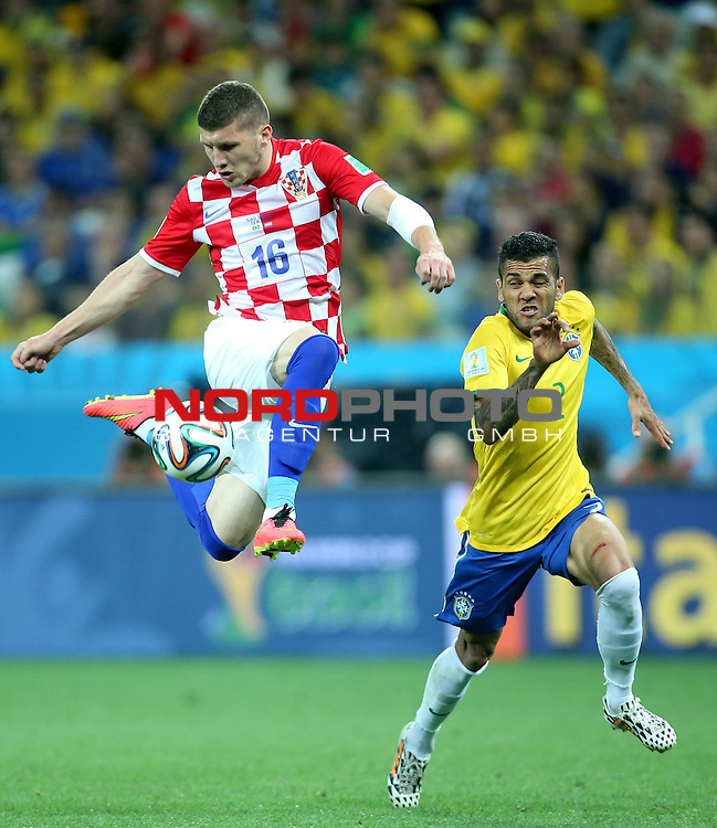 2014 Fifa World Cup opening game from group A against Brazil and Croatia.<br /> Ante Rebic, Dani Alves<br /> <br /> Foto &copy;  nph / PIXSELL / Sajin Strukic
