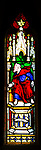 Stained glass window in church of Saint Margaret of Antioch, Leigh Delamere, Wiltshire, England, UK by Wilmshurst 1846 Ezekiel