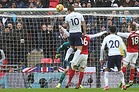 Harry Kane of Tottenham Hotspur scores the opening goal during Tottenham Hotspur vs Arsenal, Premier League Football at Wembley Stadium on 10th February 2018