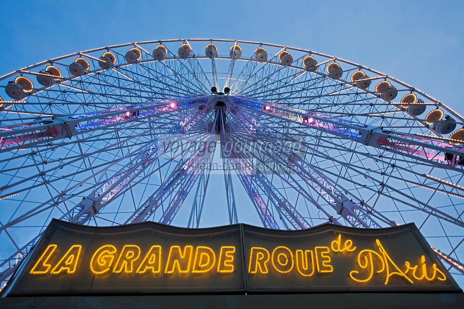 Europe/France/Ile-de-France/75001/Paris:   Grande roue, Place de la Concorde