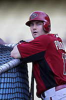 A.J. Pollack #11 of the Arizona Diamondbacks before a game against the Los Angeles Dodgers at Dodger Stadium on May 14, 2012 in Los Angeles,California. Los Angeles defeated Arizona 3-1.(Larry Goren/Four Seam Images)