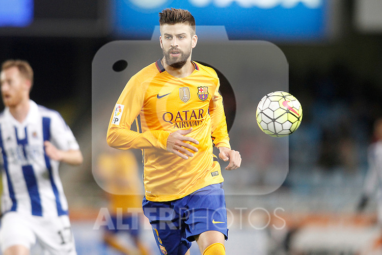 FC Barcelona's Gerard Pique during La Liga match. April 9,2016. (ALTERPHOTOS/Acero)