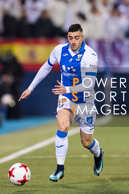 Diego Rico Salguero of CD Leganes in action during the Copa del Rey 2017-18 match between CD Leganes and Real Madrid at Estadio Municipal Butarque on 18 January 2018 in Leganes, Spain. Photo by Diego Gonzalez / Power Sport Images