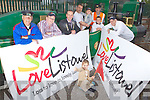 Listowel Marketing Group who launched their Love Listowel campaign last Sunday at the Lartigue Railway in Sunday. Pictured l-r was John McConnell, Town Clerk Daniel O'Brien, Mayor Tom Barry, Brian and Robbie Scanlon, Liam Roos, Station Master Martin Griffin, Menno Roos and Caitlin Roos.