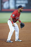 South Division third baseman Abraham Toro (34) of the Buies Creek Astros on defense during the 2018 Carolina League All-Star Classic at Five County Stadium on June 19, 2018 in Zebulon, North Carolina. The South All-Stars defeated the North All-Stars 7-6.  (Brian Westerholt/Four Seam Images)
