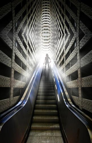 Futuristic,fantasy stairs , photo manipulation.