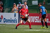 Kansas City, MO - Wednesday August 16, 2017: Nicole Barnhart during a regular season National Women's Soccer League (NWSL) match between FC Kansas City and the Orlando Pride at Children's Mercy Victory Field.
