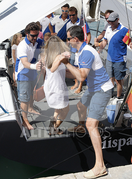 Prince Felipe of Spain, Princess Letizia, Spanish Queen Sofia, Princess Cristina, Princess Leonor, Princess Sofia, Victoria Federica Marichalar and Irene Urdangarin attend 30th Copa del Rey Audi Mapfre Sailing Cup day 2 at the Club Nautico on August 1, 2011 in Palma de Mallorca, Spain...Photo:  Lorenzo / ALFAQUI