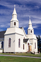 church, Nova Scotia, NS, Canada, St. Alphonse Church an Acadian Church in St. Alphonse.