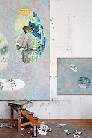 Paintings at the atelier
