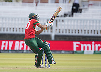 Mahmudullah (Bangladesh) is hurried and top edges over the 'keeper during Pakistan vs Bangladesh, ICC World Cup Cricket at Lord's Cricket Ground on 5th July 2019