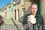 No peace in Listowel: Tim O'Loughlin who lives on Upper William Street says when rocks this size are being thrown through windows, it's time to go.