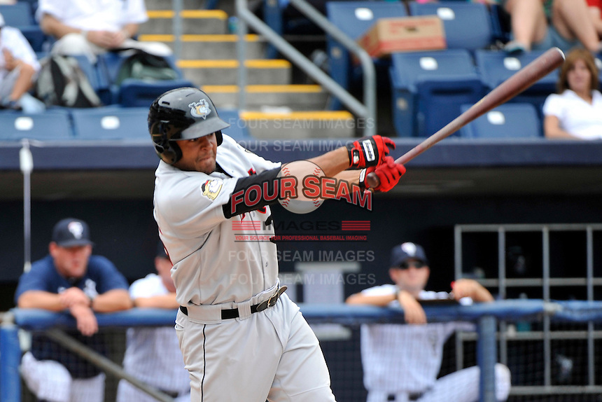 Tri-City  Valley Cats outfielder Brandon Meredith #36 during a game against the Staten Island Yankees at Richmond County Bank Ballpark at St. George on July 25, 2011 in Staten Island, NY.  Staten Island defeated Tri-City 2-1.  Tomasso DeRosa/Four Seam Images