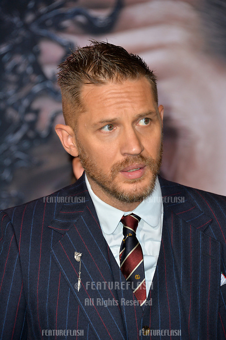 LOS ANGELES, CA. October 01, 2018: Tom Hardy at the world premiere for &quot;Venom&quot; at the Regency Village Theatre.<br /> Picture: Paul Smith/Featureflash