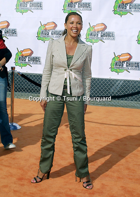 Vanessa Williams arriving at the Nickelodeon's 16th Annual Kids Choice Awards at the Barker Hanger In Santa Monica, Los Angeles. April 12, 2003.