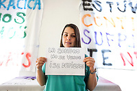 surgical nurse of the Hospital La Princesa, against the privatization of the public health in Spain