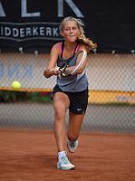 August 9, 2014, Netherlands, Rotterdam, TV Victoria, Tennis, National Junior Championships, NJK,  Tess Menten (NED)<br /> Photo: Tennisimages/Henk Koster