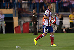 14  Atletico Madrid's midfielder and captain Gabi<br />  celebrates the achievement of  the Spanish Super Cup first leg football match Club Atletico de Madrid vs Real Madrid CF at the Manzanares stadium in Madrid on August 22, 2014. PHOTOCALL3000/ DP