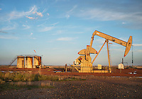 An oil rig near Williston, North Dakota where there is a sharp rise in shale drilling for oil in the large Bakken Formation, Wednesday, July 18, 2012. ..Photo by MATT NAGER