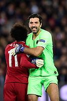 BUFFON Gianluigi (PSG) / Mohamed Salah (Liverpool) <br /> Parigi 28-11-2018 <br /> Paris Saint Germain - Liverpool Champions League 2018/2019<br /> Foto JB Autissier / Panoramic / Insidefoto <br /> ITALY ONLY