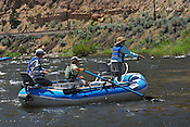 Fishermen & Women floating the Upper Colorado River fishing between Rancho Del Rio and State Bridge on July 10, 2014.