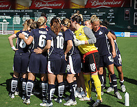 Washington Freedom prepares to take the field.  Washington Freedom defeated Skyblue FC 2-1 at RFK Stadium, Saturday May 23, 2009.