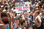 "© Licensed to London News Pictures . 03/06/2016 . Tel Aviv , Israel . Placard commemorating Shira Banki , who was stabbed to death by Yishai Shlissel during Jerusalem Pride in 2015 . Over 100,000 people attend the gay pride parade in Tel Aviv , reported to be the largest such event in the Middle East and Asia . The Israeli government has been accused of using the event as "" pinkwashing "" , marketing the event in order to deflect accusations of poor human rights behaviour . Photo credit: Joel Goodman/LNP"