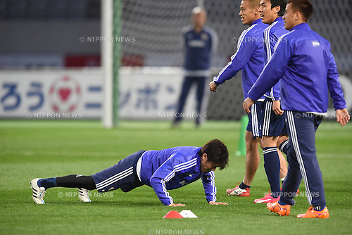 Atsuto Uchida (JPN), <br /> MARCH 30, 2015 - Football / Soccer : <br /> Japan training session <br /> at Tokyo Stadium in Tokyo, Japan. <br /> (Photo by AFLO SPORT)